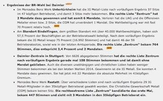 Wenn der Betriebsrat nicht nur rechts blinkt. Eine Zwischenmeldung zum Ausgang der Betriebsratswahlen. Das Beispiel Daimler